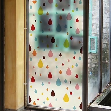 فيلم نافذة وملصقات زخرفة العادي هندسي PVC ملصق النافذة / تصميم جديد
