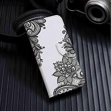 غطاء من أجل Samsung Galaxy J8 / J7 (2017) / J6 محفظة / حامل البطاقات / مع حامل غطاء كامل للجسم زهور قاسي جلد PU