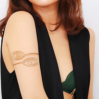 billige Damesmykker-Dame Kroppsmykker 10 cm arm Chain Gull / Sølv damer / Bohemsk / Tropisk Jern Kostyme smykker Til Klubb / Bikini Sommer