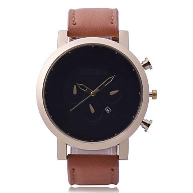 Χαμηλού Κόστους Ανδρικά ρολόγια-Ανδρικά Στρατιωτικό Ρολόι Ρολόι Καρπού Χαλαζίας Συνθετικό δέρμα με επένδυση Μαύρο / Καφέ Ημερολόγιο Νεό Σχέδιο Καθημερινό Ρολόι Αναλογικό Καθημερινό Μινιμαλιστική -  / Ενας χρόνος