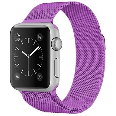 billige Herreure-Rustfrit stål Urrem Strap for Apple Watch Series 4/3/2/1 Rød / Brun / Grøn 23cm / 9 tommer 2.1cm / 0.83 Tommer