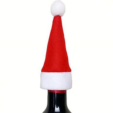 عطلة زينة ديكور عيد الميلاد المجيد عيد الميلاد الحلي إبداعي أحمر 1PC