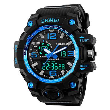 S KMEI رجالي ساعة رقمية ياباني كوارتز ياباني سيليكون أسود / كاكي 30 m مقاوم للماء الكرونوغراف قضية تناظري-رقمي كاجوال موضة - أزرق ذهبي التمويه براون سنتان عمر البطارية / SSUO SR626SW+CR2025