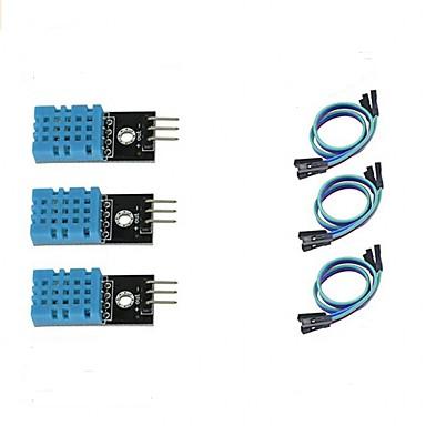3pcs dht11 modulo sensore di temperatura e umidità per arduino raspberry pi 2 3