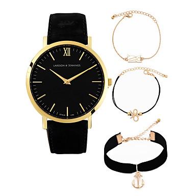 a32c746751c0 Hombre Mujer Relojes de Lujo Reloj de Vestir Reloj de Pulsera Cuarzo Piel  Negro   Marrón