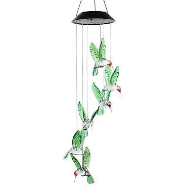 1PC Bell ليلة الخفيفة في الهواء الطلق غني بالألوان أبيض ضد الماء / الحث الذكية / قابلة لإعادة الشحن <5 V