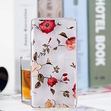 voordelige Hoesjes / covers voor Sony-hoesje Voor Sony Huawei P20 / Huawei P20 Pro / Huawei P20 lite Transparant / Patroon Achterkant Bloem Zacht TPU