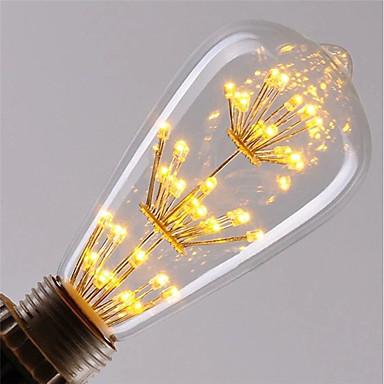 1PC 3 W مصابيحLED 200 lm E26 / E27 ST64 47 الخرز LED COB ديكور نجمي أبيض دافئ أحمر أزرق 85-265 V / بنفايات