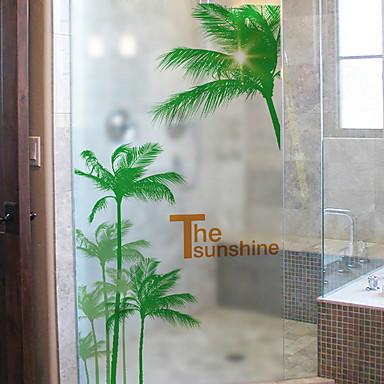 فيلم نافذة وملصقات زخرفة العادي هندسي PVC ملصق النافذة