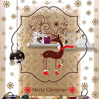 فيلم نافذة وملصقات زخرفة عيد الميلاد عطلة PVC كوول