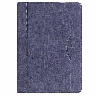 غطاء من أجل Apple iPad (2017) مع حامل غطاء كامل للجسم لون سادة قاسي جلد PU