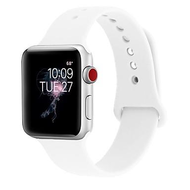 ราคาถูก สายนาฬิกาข้อมือ-เจลซิลิก้า สายนาฬิกา รัด สำหรับ Apple Watch Series 4/3/2/1 ดำ / สีขาว / ฟ้า 23 ซม / 9.06 นิ้ว 2.1cm / 0.83 นิ้ว