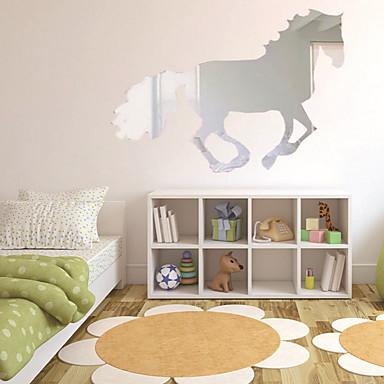 لواصق حائط مزخرفة - ملصقات الحائط على المرآة حيوانات داخلي