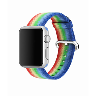 ניילון צפו בנד רצועה ל Apple Watch Series 4/3/2/1 כחול / תפוז / אפור 23cm / 9 אינץ ' 2.1cm / 0.83 אינצ'ים