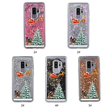 voordelige Galaxy S-serie hoesjes / covers-hoesje Voor Samsung Galaxy S9 / S9 Plus Stromende vloeistof / Transparant / Patroon Achterkant Kerstmis Hard TPU