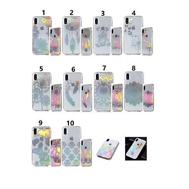 olcso iPhone 5 tokok-Case Kompatibilitás Apple iPhone XR / iPhone XS Max IMD / Átlátszó / Minta Fekete tok Pillangó / Pitypang Puha TPU mert iPhone XS / iPhone XR / iPhone XS Max