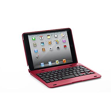 Недорогие Кейсы для iPhone-Кейс для Назначение Apple iPad Mini 3/2/1 с клавиатурой Чехол Однотонный Твердый Кожа PU