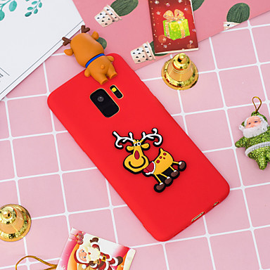 voordelige Galaxy S-serie hoesjes / covers-hoesje Voor Samsung Galaxy S9 / S9 Plus / S8 Plus Patroon Achterkant Kerstmis Zacht TPU