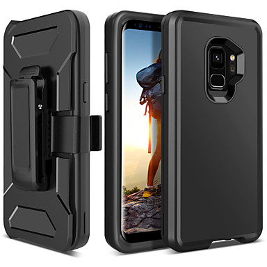 BENTOBEN Case For Samsung Galaxy S9 Shockproof / Frosted / Wireless Charging Receiver Case Full Body Cases Solid Colored Hard TPU / PC for S9