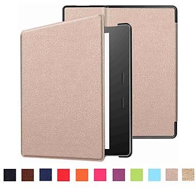 Etui Til Amazon Kindle Oasis 2 (2. generation, 2017 Release) Flip Fuldt etui Ensfarvet Hårdt PU Læder for Kindle Oasis 2(2nd Generation, 2017 Release)