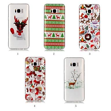 Недорогие Чехлы и кейсы для Galaxy S6 Edge-Кейс для Назначение SSamsung Galaxy S9 / S9 Plus / S8 Plus IMD / С узором Кейс на заднюю панель Рождество Мягкий ТПУ
