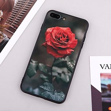 voordelige iPhone 6 hoesjes-hoesje Voor Apple iPhone X / iPhone 8 Plus / iPhone 8 Patroon Achterkant Bloem Hard TPU