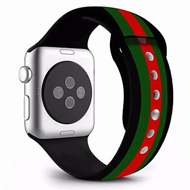 זול שעוני גברים-עור אמיתי / ג'ל סיליקה צפו בנד רצועה ל Apple Watch Series 4/3/2/1 כחול 23cm / 9 אינץ ' 2.1cm / 0.83 אינצ'ים