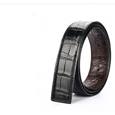 baratos Roupa de Homem Moderna-Homens Básico Cinto para a Cintura Sólido / Estampado