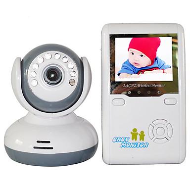 """ieftine Camere IP-monitor pentru copii 9020d 380tvl 1/4 """"cmos 70 ° vizibilitate pe timp de noapte 2-3 m 2.4ghz 2.4"""" tft lcd"""