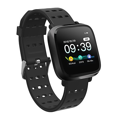 Kimlink Y8-M Men Smartwatch Android iOS Bluetooth Heart Rate Monitor Blood Pressure Measurement Calories Burned Distance Tracking Message Control Stopwatch Pedometer Call Reminder Activity Tracker