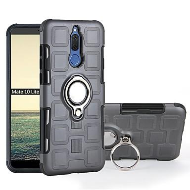 voordelige Huawei Mate hoesjes / covers-hoesje Voor Huawei Mate 10 pro / Mate 10 lite Schokbestendig / Ringhouder Achterkant Schild Zacht TPU