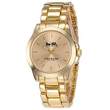 2e771ef96bc2 abordables Relojes Pulsera-Mujer Reloj de Pulsera Relojes de Oro Japonés  Cuarzo Acero Inoxidable Plata