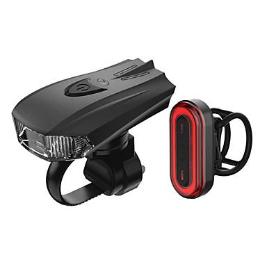 رخيصةأون اضواء الدراجة-LED اضواء الدراجة طقم مصابيح دراجة قابل لإعادة الشحن ضوء الدراجة الأمامي ضوء الدراجة الخلفي دراجة جبلية ركوب الدراجة ضد الماء محمول سريع الإصدار بطارية  Li-ion قابلة للتشحين 1000 lm طاقة قابلة للشحن