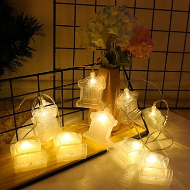 3 M Łańcuchy świetlne 20 Diody LED Ciepła biel Dekoracyjna Zasilanie bateriami AA 1 zestaw