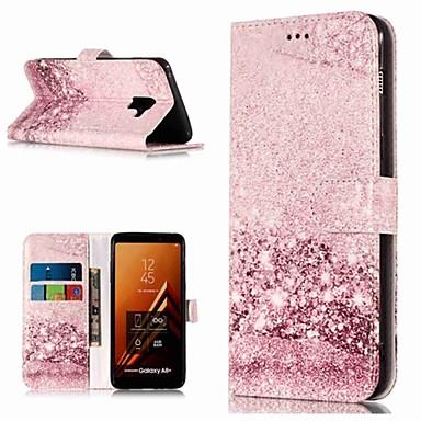 voordelige Galaxy A-serie hoesjes / covers-hoesje Voor Samsung Galaxy A3 (2017) / A5 (2017) / A8 2018 Portemonnee / Kaarthouder / met standaard Volledig hoesje Marmer Hard PU-nahka
