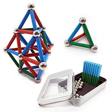 63 pcs 24*4mm, 8mm Jucării Magnet bile magnetice Jucării Magnet Lego Metalic Magnetic Stres și anxietate relief Birouri pentru birou Ameliorează ADD, ADHD, anxietate, autism Noutate Pentru copii