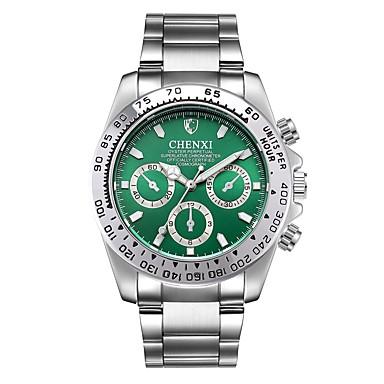 Недорогие Часы на металлическом ремешке-Муж. Нарядные часы Кварцевый Нержавеющая сталь Серебристый металл Защита от влаги Фосфоресцирующий Аналоговый Классика Мода минималист - Черный Зеленый Синий