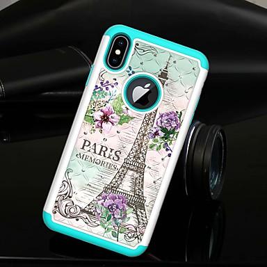 voordelige iPhone 7 hoesjes-hoesje Voor Apple iPhone XS / iPhone XR / iPhone XS Max Strass / Doorzichtig Achterkant Landschap / Eiffeltoren Hard TPU / PC