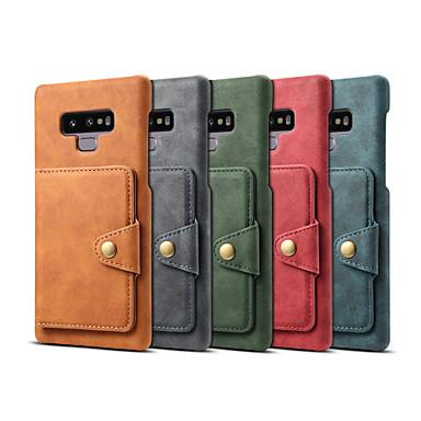 voordelige Galaxy Note-serie hoesjes / covers-hoesje Voor Samsung Galaxy Note 9 Portemonnee / Kaarthouder / Schokbestendig Achterkant Effen Hard PU-nahka
