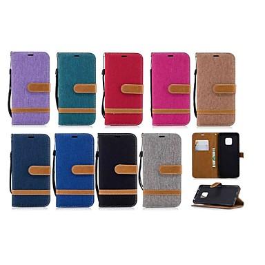 voordelige Huawei Mate hoesjes / covers-hoesje Voor Huawei Mate 10 / Mate 10 lite / Huawei Mate 20 lite Portemonnee / Kaarthouder / met standaard Volledig hoesje Tegel Hard tekstiili