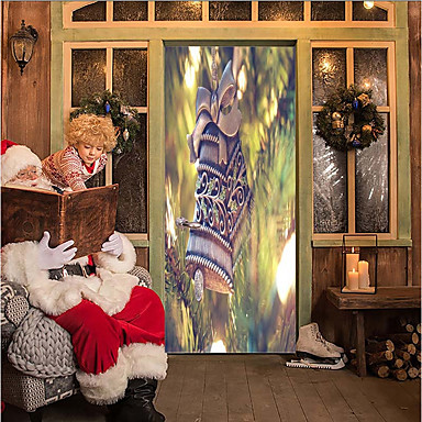 Door Stickers - 3D Wall Stickers Christmas Decorations / Holiday Indoor / Outdoor