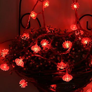 5 m Łańcuchy świetlne 50 Diody LED Czerwony Dekoracyjna Zasilanie bateriami AA 1 zestaw
