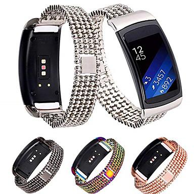 voordelige Horlogebandjes voor Samsung-Horlogeband voor Gear Fit 2 Samsung Galaxy Sportband Roestvrij staal Polsband