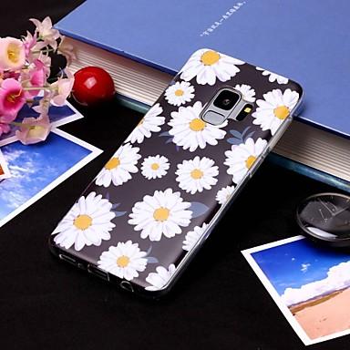 Недорогие Чехлы и кейсы для Galaxy S6 Edge-Кейс для Назначение SSamsung Galaxy S9 / S9 Plus / S8 Plus IMD / Полупрозрачный Кейс на заднюю панель Цветы Мягкий ТПУ