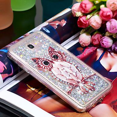 voordelige Galaxy J-serie hoesjes / covers-hoesje Voor Samsung Galaxy J7 Prime Schokbestendig / Glitterglans Achterkant Uil / Glitterglans Zacht TPU