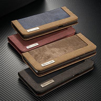 Недорогие Чехлы и кейсы для Galaxy S6 Edge-Кейс для Назначение SSamsung Galaxy S9 / S9 Plus / S8 Plus Кошелек / Бумажник для карт / со стендом Чехол Однотонный Твердый текстильный