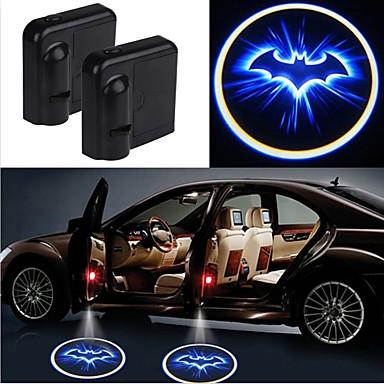 ราคาถูก ไฟ LED แปลกใหม่-2pcs ประตูรถไร้สายเลเซอร์โปรเจคเตอร์นำแสงเงารถจัดแต่งทรงผมรถแสงไฟภายในรถ
