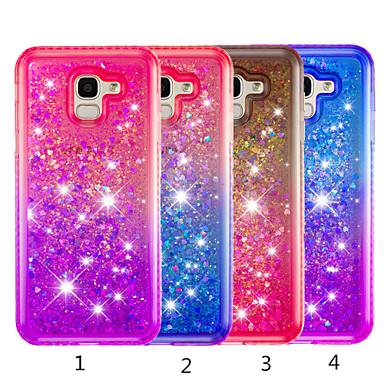 voordelige Galaxy J-serie hoesjes / covers-hoesje Voor Samsung Galaxy J8 (2018) / J7 (2018) / J6 (2018) Strass / Stromende vloeistof / Doorzichtig Achterkant Kleurgradatie Hard TPU