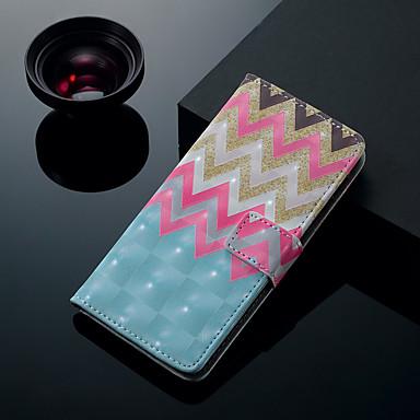 Недорогие Чехлы и кейсы для Galaxy S6-Кейс для Назначение SSamsung Galaxy S9 / S9 Plus / S8 Plus Бумажник для карт / со стендом / Флип Чехол Полосы / волосы Твердый Кожа PU