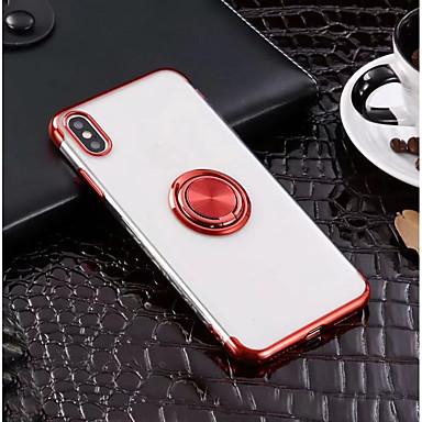 pouzdro na jablko iphone xr xs xs max kroužek držák / ultra tenký zadní kryt pevné barevné měkké tpu pro iPhone x 8 8 plus 7 7plus 6s 6s plus se 5 5s